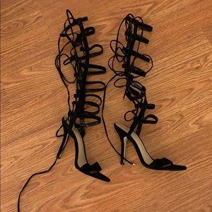 Aldo black heels gladiator
